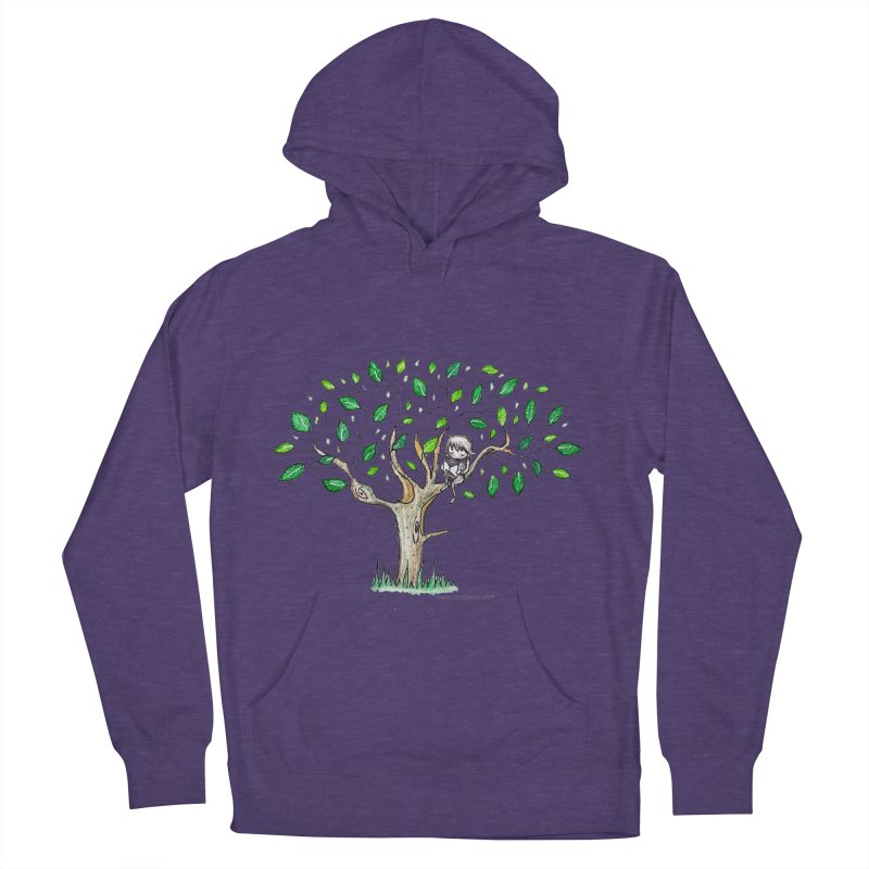 Book in a leafy spot Women's French Terry Pullover Hoody by caratoons's Shop
