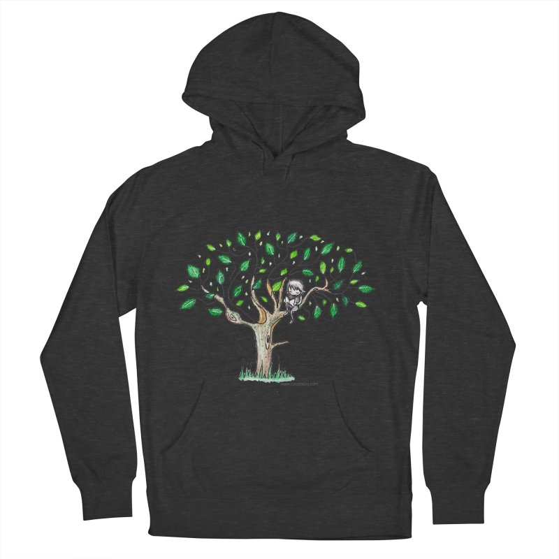 Book in a leafy spot Men's French Terry Pullover Hoody by caratoons's Shop