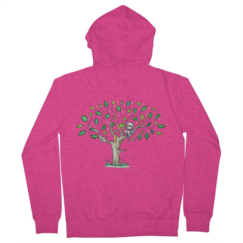 Book in a leafy spot Women's French Terry Zip-Up Hoody by caratoons's Shop