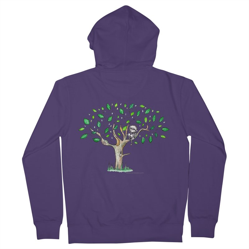 Book in a leafy spot Women's Zip-Up Hoody by caratoons's Shop
