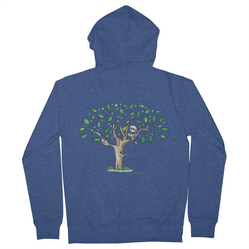 Book in a leafy spot Men's French Terry Zip-Up Hoody by caratoons's Shop