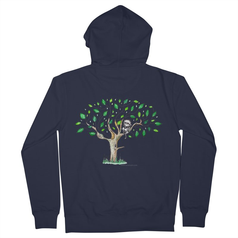 Book in a leafy spot Men's Zip-Up Hoody by caratoons's Shop