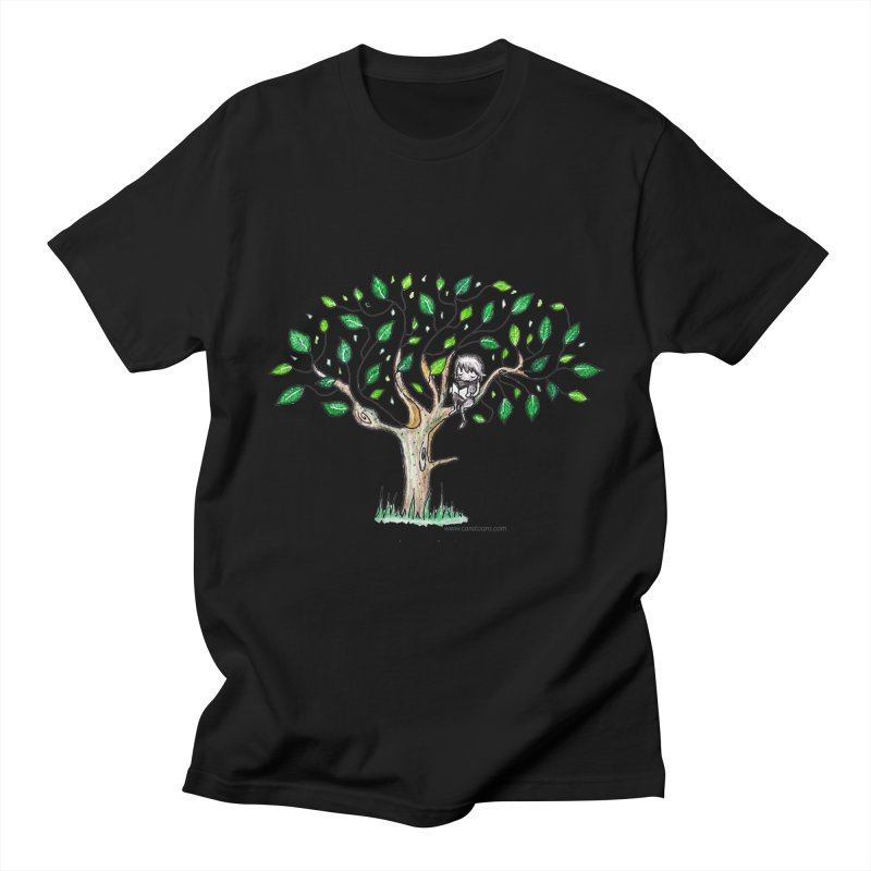 Book in a leafy spot Men's Regular T-Shirt by caratoons's Shop