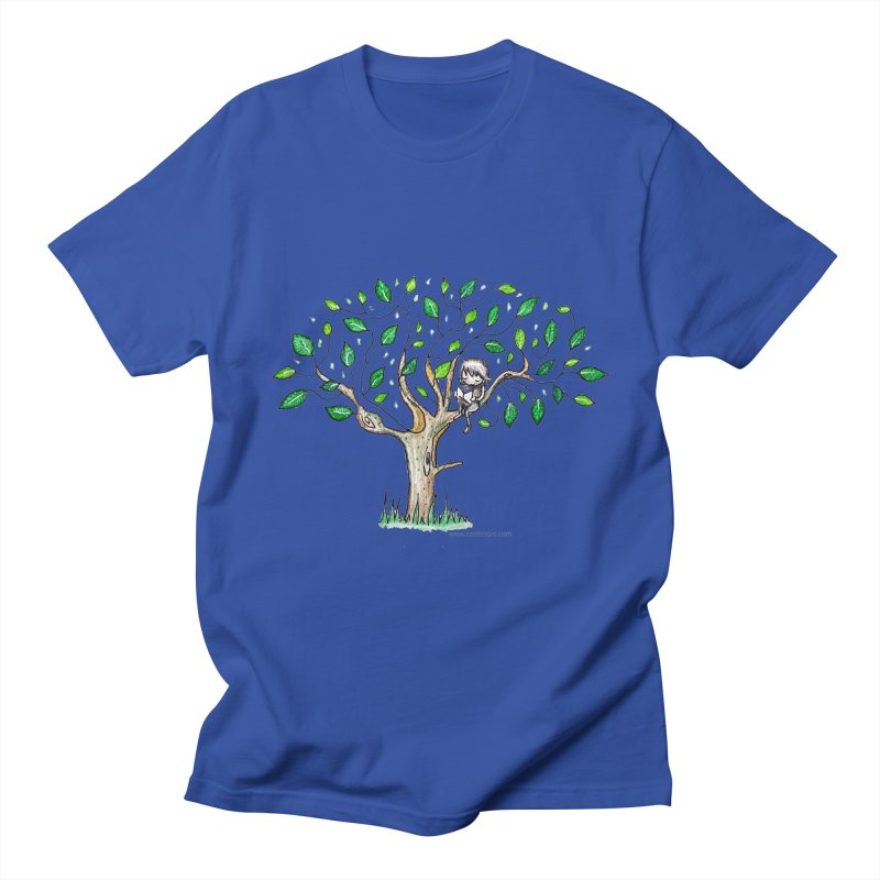 Book in a leafy spot Men's T-Shirt by caratoons's Shop