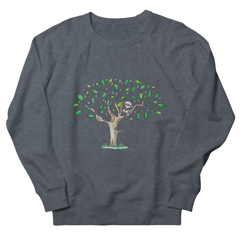 Book in a leafy spot Women's French Terry Sweatshirt by caratoons's Shop