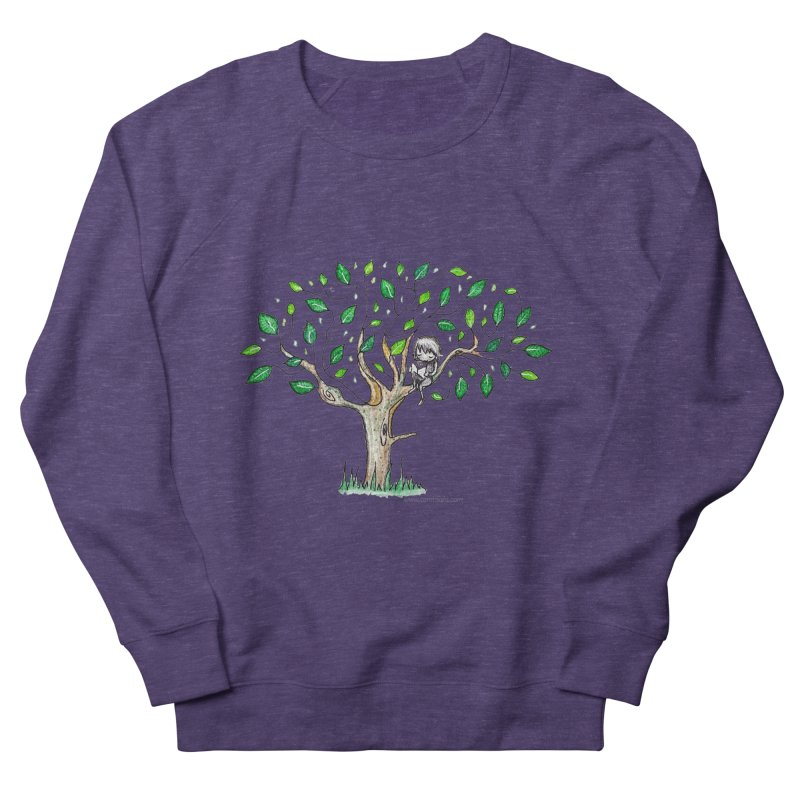 Book in a leafy spot Men's Sweatshirt by caratoons's Shop