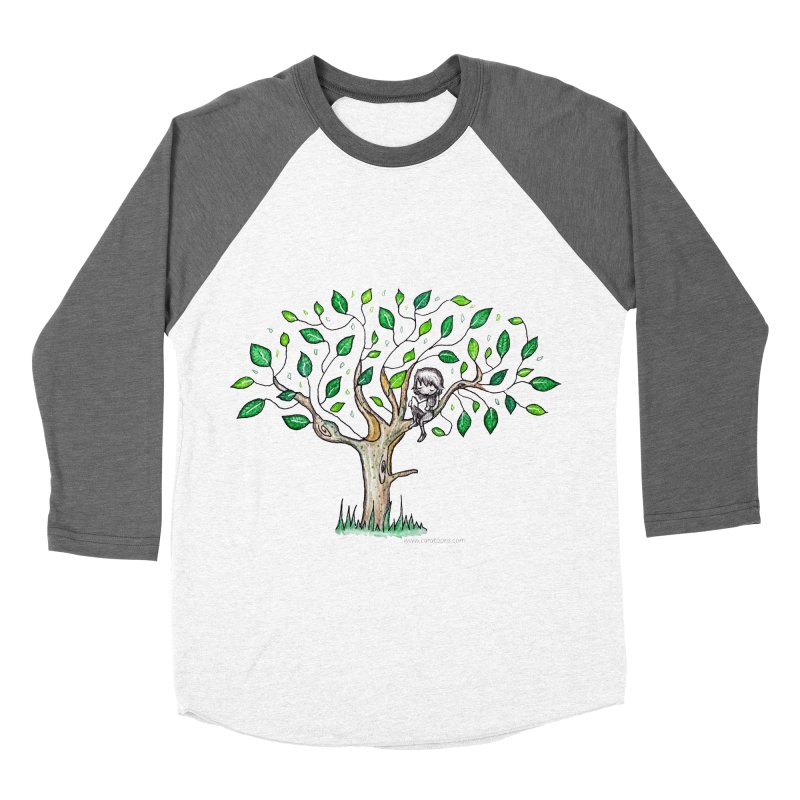 Book in a leafy spot Women's Baseball Triblend Longsleeve T-Shirt by caratoons's Shop