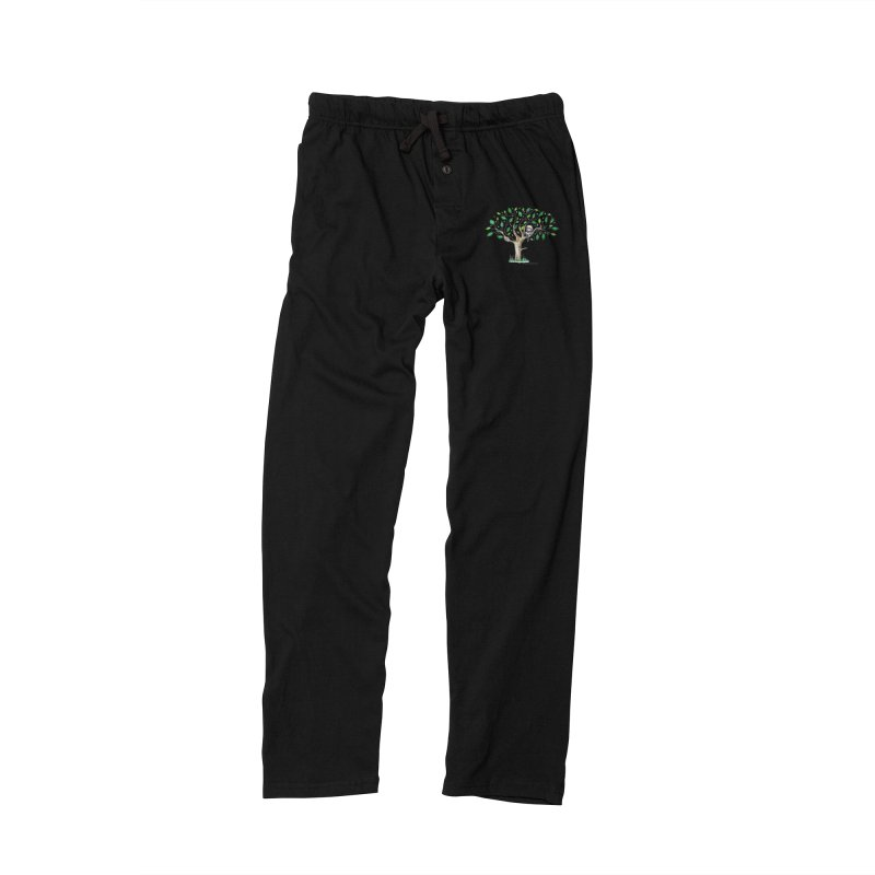 Book in a leafy spot Men's Lounge Pants by caratoons's Shop