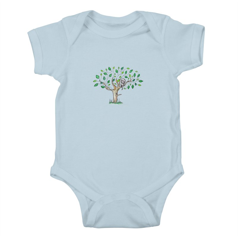 Book in a leafy spot Kids Baby Bodysuit by caratoons's Shop