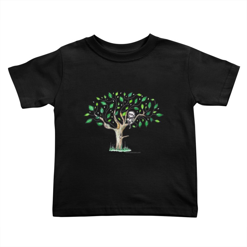 Book in a leafy spot Kids Toddler T-Shirt by caratoons's Shop