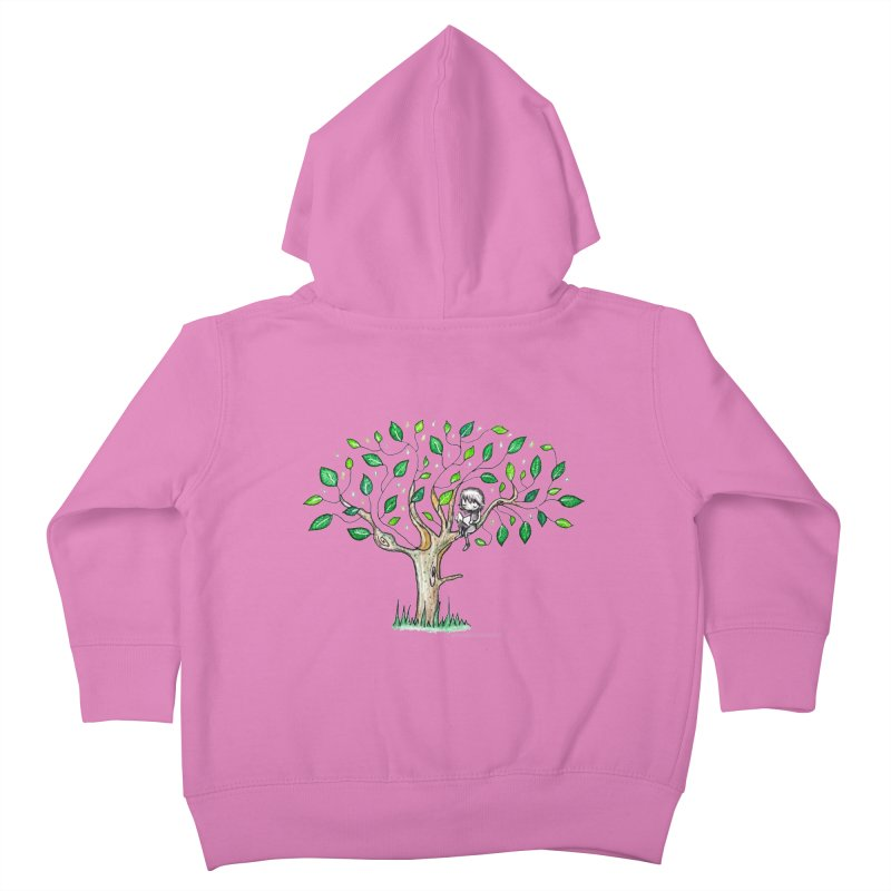 Book in a leafy spot Kids Toddler Zip-Up Hoody by caratoons's Shop
