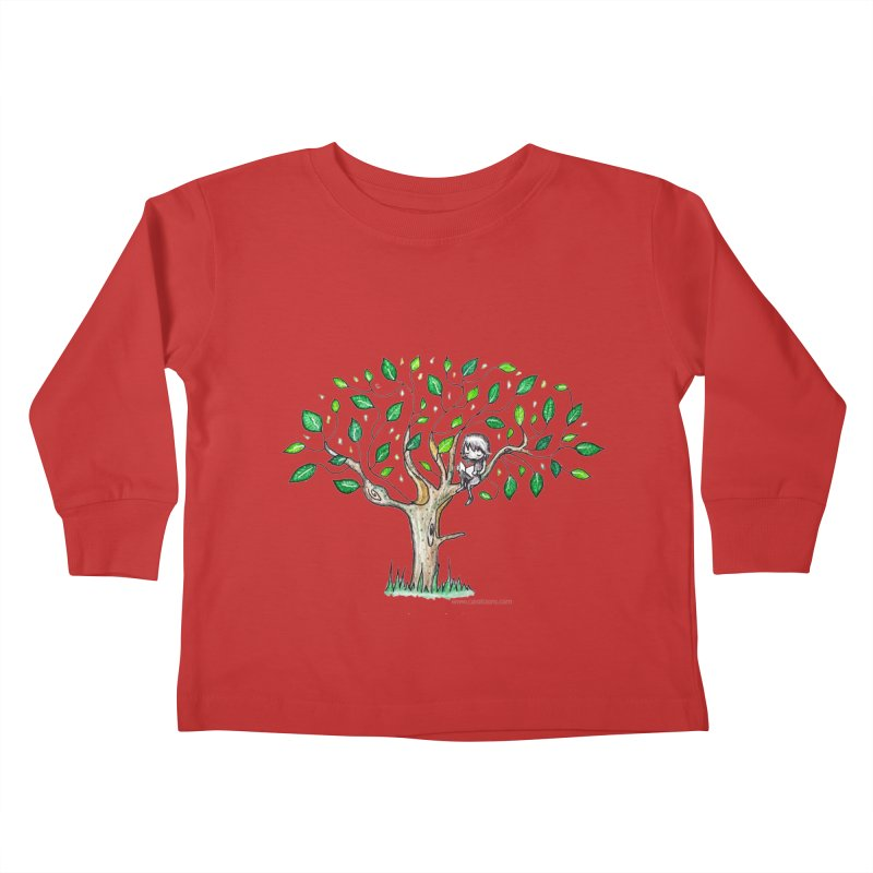 Book in a leafy spot Kids Toddler Longsleeve T-Shirt by caratoons's Shop