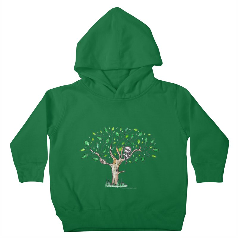 Book in a leafy spot Kids Toddler Pullover Hoody by caratoons's Shop