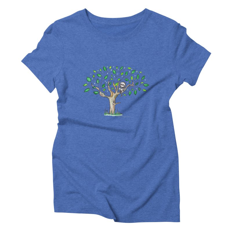 Book in a leafy spot Women's Triblend T-Shirt by caratoons's Shop