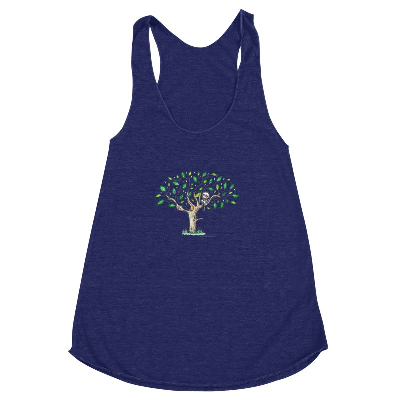 Book in a leafy spot Women's Racerback Triblend Tank by caratoons's Shop