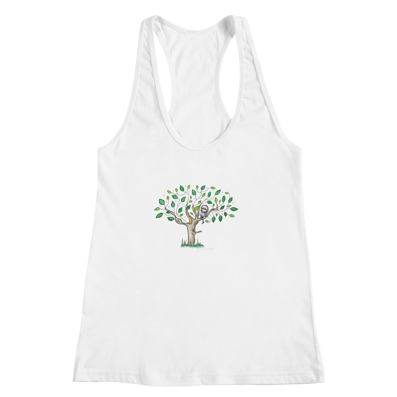 Book in a leafy spot Women's Racerback Tank by caratoons's Shop