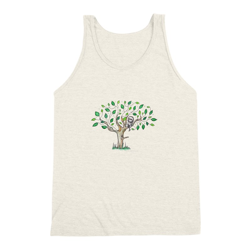 Book in a leafy spot Men's Triblend Tank by caratoons's Shop