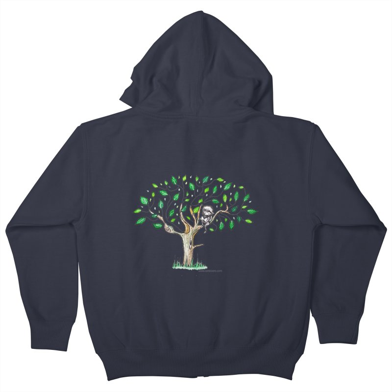 Book in a leafy spot Kids Zip-Up Hoody by caratoons's Shop