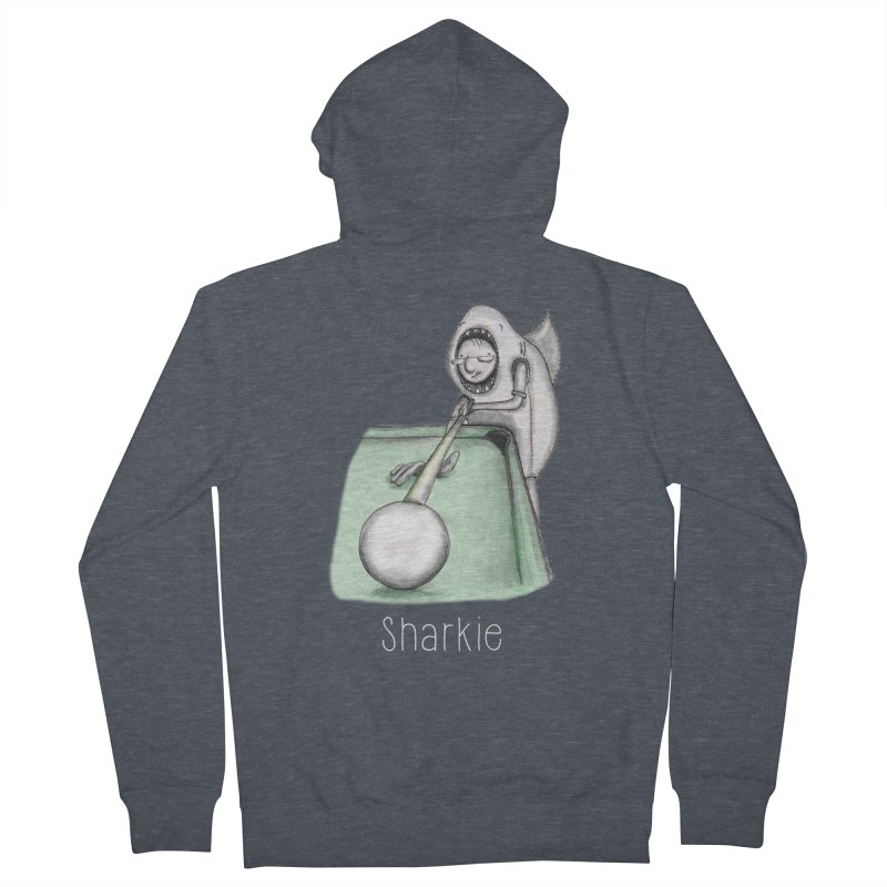 Pool Shark Women's French Terry Zip-Up Hoody by caratoons's Shop