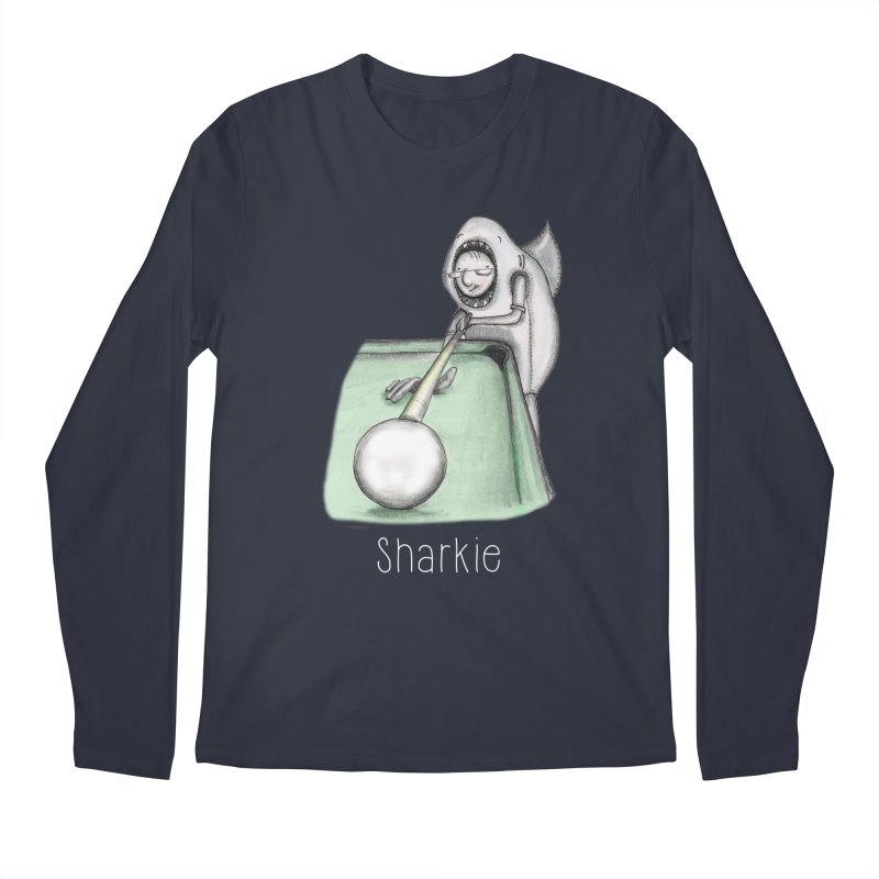 Pool Shark Men's Longsleeve T-Shirt by caratoons's Shop