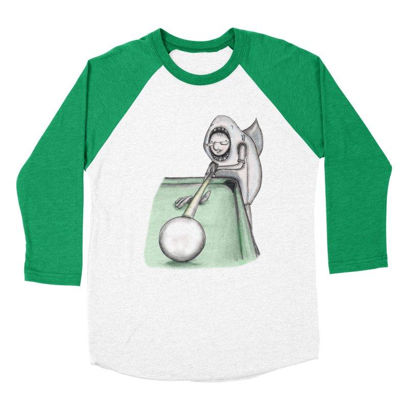 Pool Shark Women's Baseball Triblend Longsleeve T-Shirt by caratoons's Shop