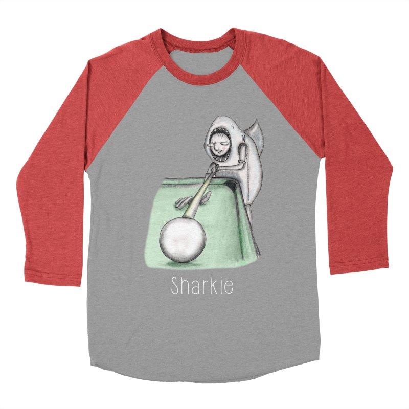 Pool Shark Men's Baseball Triblend T-Shirt by caratoons's Shop