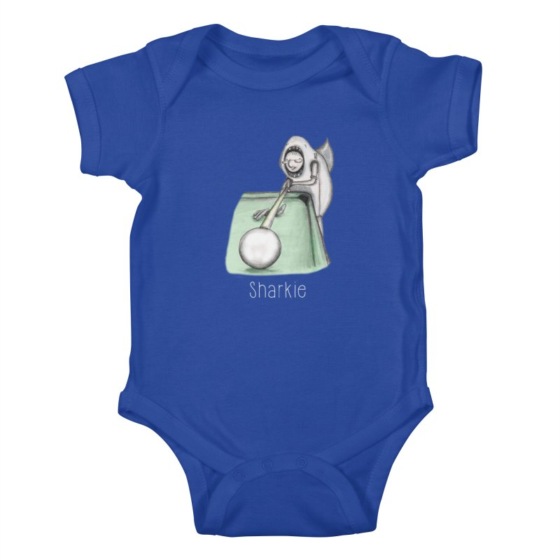 Pool Shark Kids Baby Bodysuit by caratoons's Shop