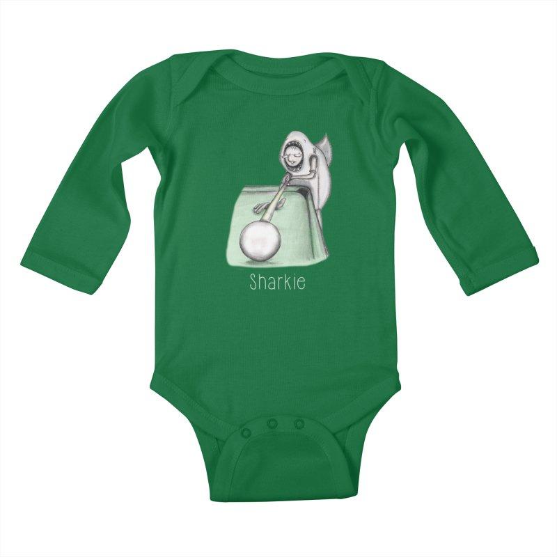 Pool Shark Kids Baby Longsleeve Bodysuit by caratoons's Shop