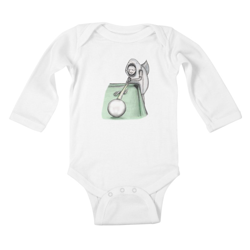 Pool Shark Kids Baby Longsleeve Bodysuit by caratoons's Shop