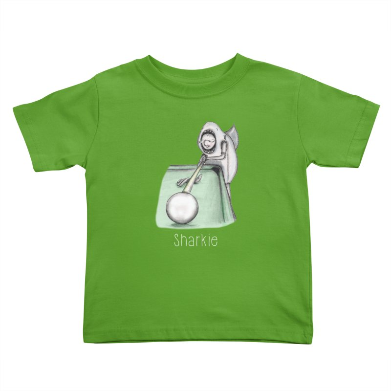 Pool Shark Kids Toddler T-Shirt by caratoons's Shop