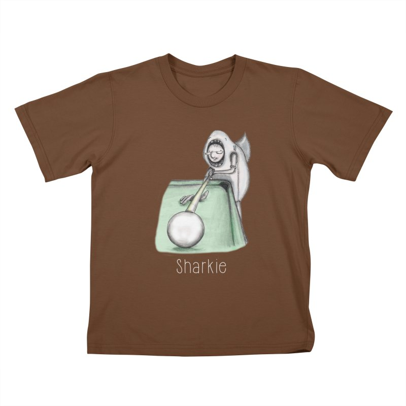 Pool Shark Kids T-Shirt by caratoons's Shop