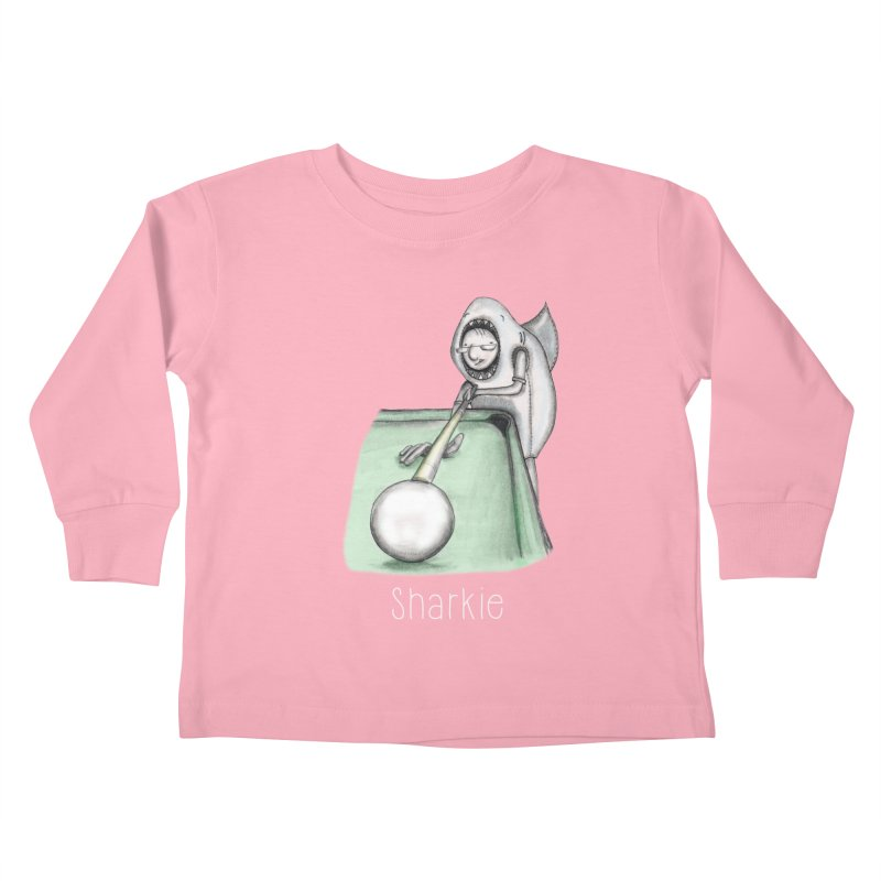 Pool Shark Kids Toddler Longsleeve T-Shirt by caratoons's Shop