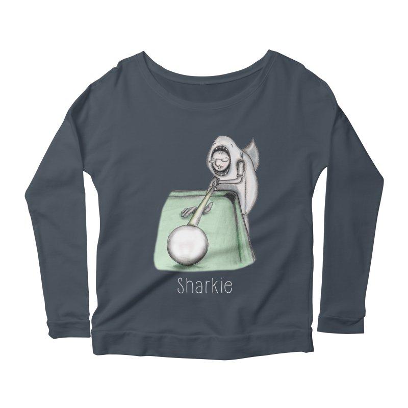 Pool Shark Women's Scoop Neck Longsleeve T-Shirt by caratoons's Shop