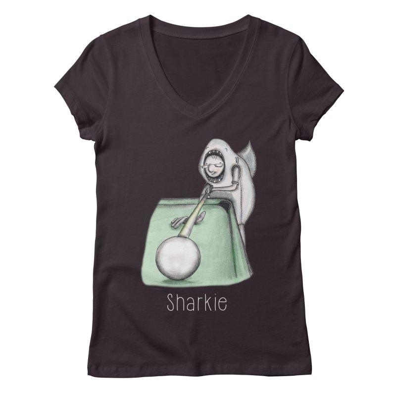 Pool Shark Women's Regular V-Neck by caratoons's Shop