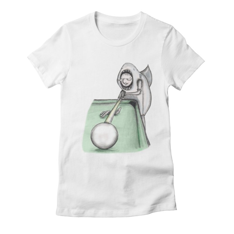 Pool Shark Women's Fitted T-Shirt by caratoons's Shop