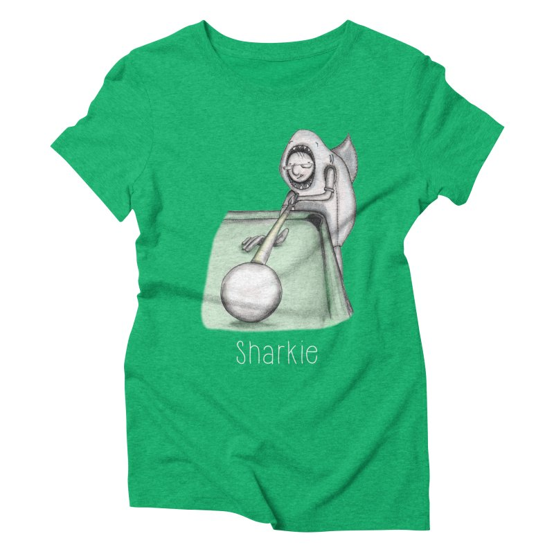 Pool Shark Women's Triblend T-Shirt by caratoons's Shop