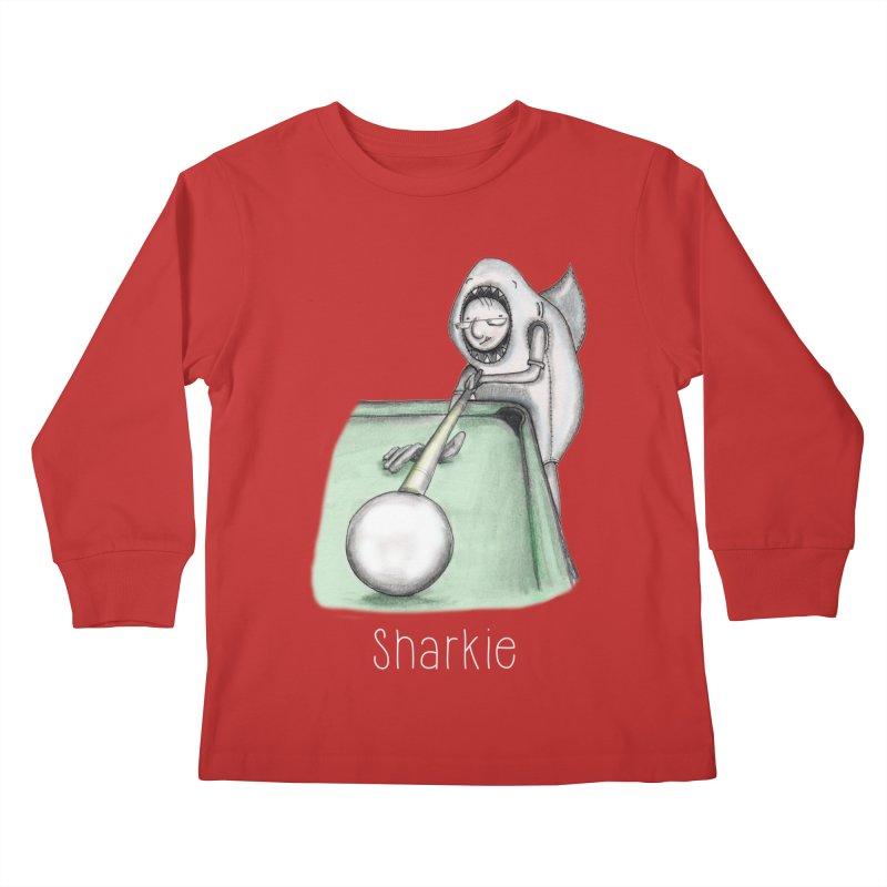 Pool Shark Kids Longsleeve T-Shirt by caratoons's Shop