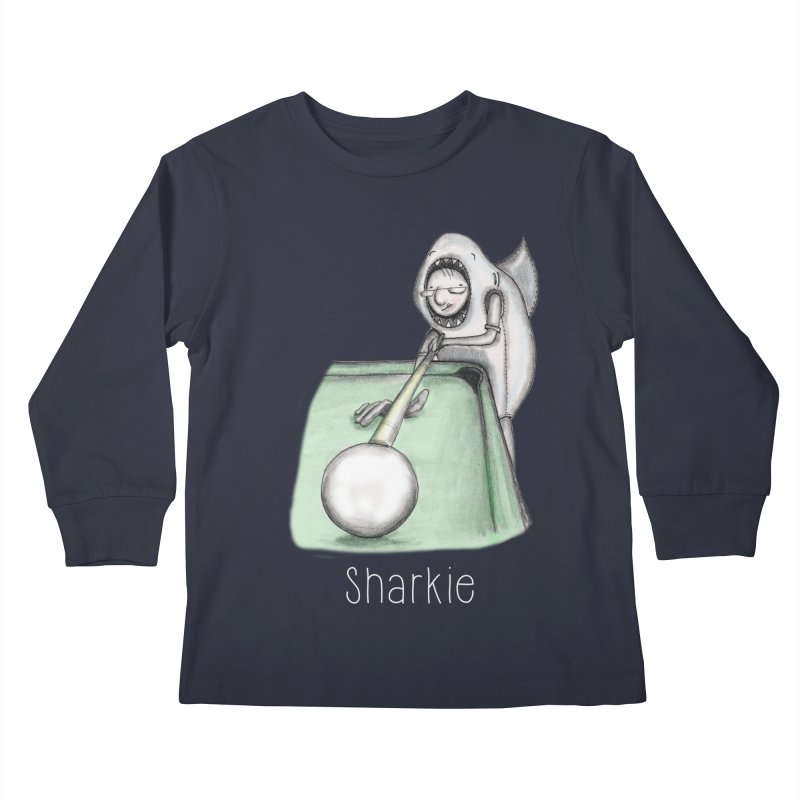 Pool Shark Kids Longsleeve T-Shirt by caratoons's Shop