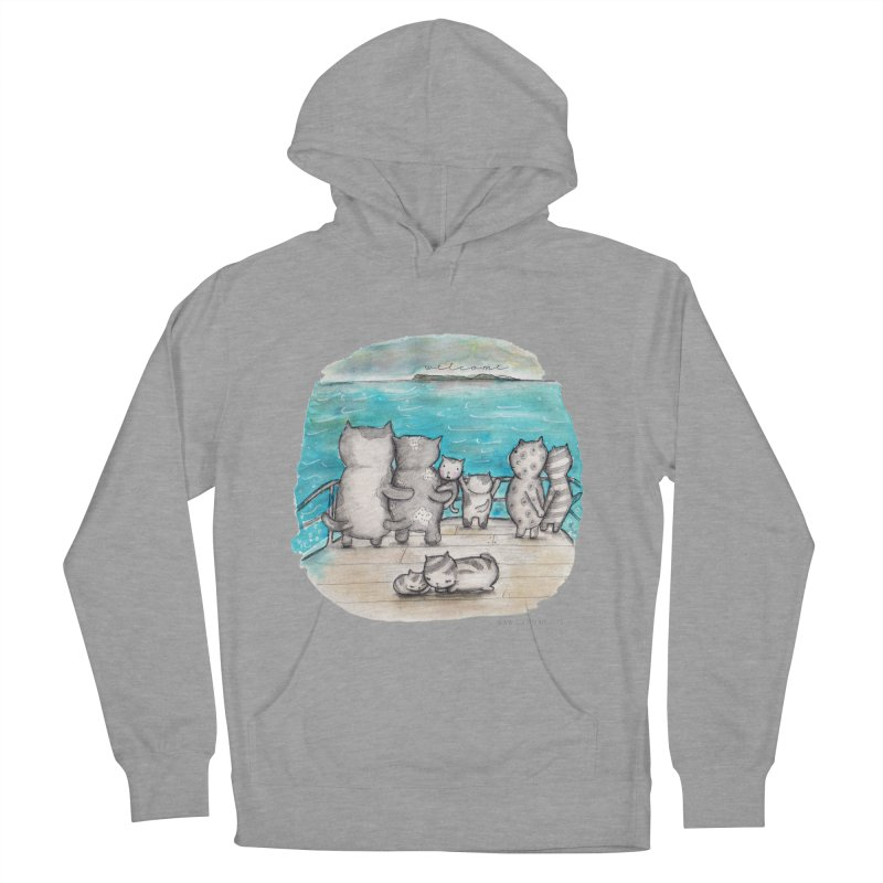 Welcome Refugees Men's Pullover Hoody by caratoons's Shop