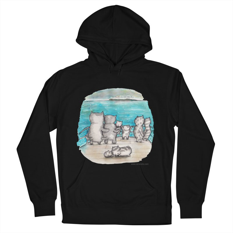 Welcome Refugees Men's French Terry Pullover Hoody by caratoons's Shop