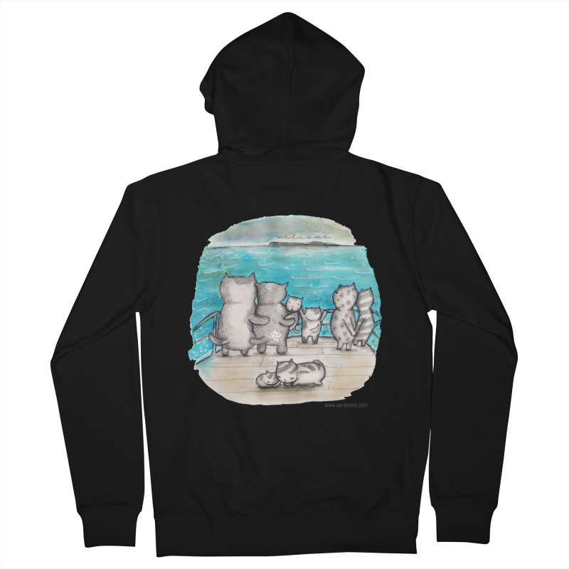 Welcome Refugees Women's Zip-Up Hoody by caratoons's Shop