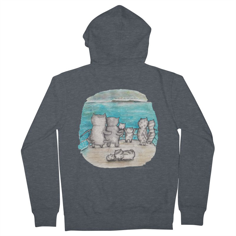 Welcome Refugees Men's French Terry Zip-Up Hoody by caratoons's Shop