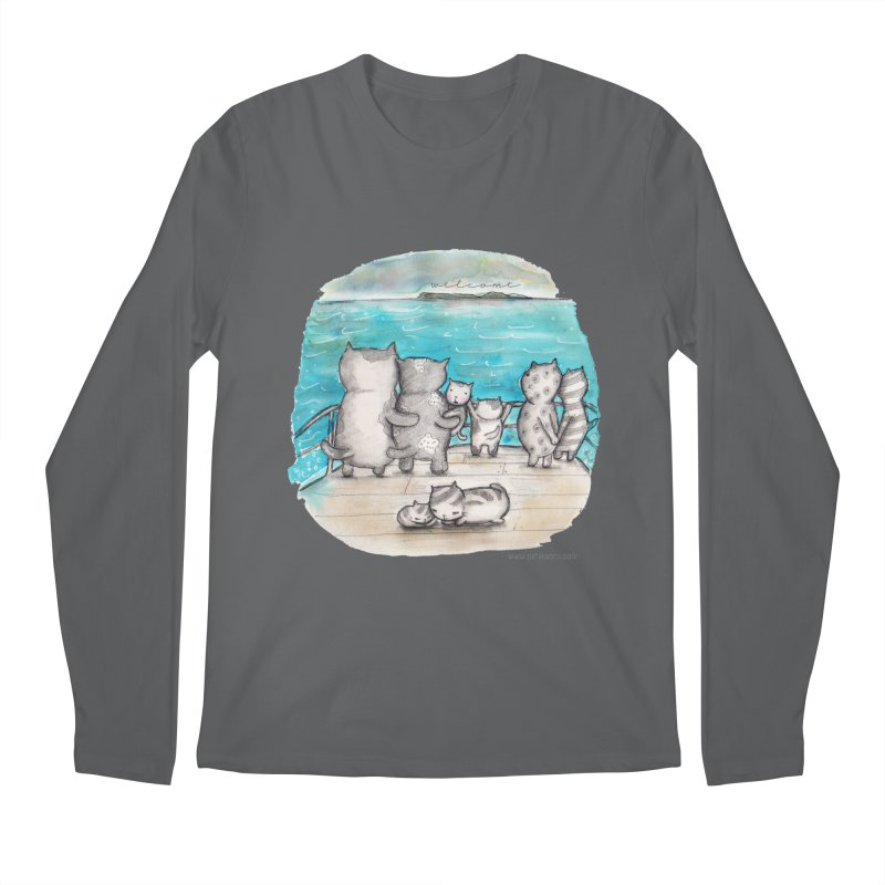 Welcome Refugees Men's Longsleeve T-Shirt by caratoons's Shop