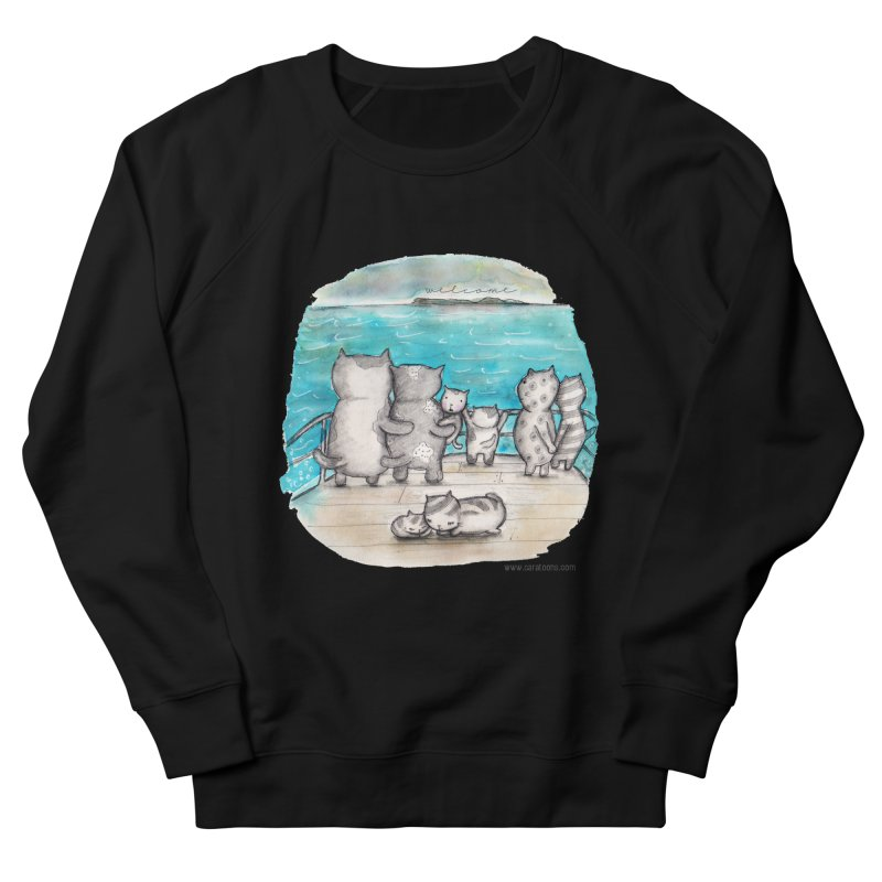 Welcome Refugees Women's French Terry Sweatshirt by caratoons's Shop
