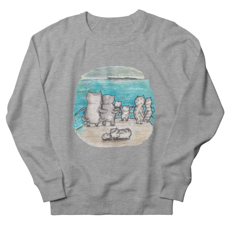 Welcome Refugees Men's French Terry Sweatshirt by caratoons's Shop