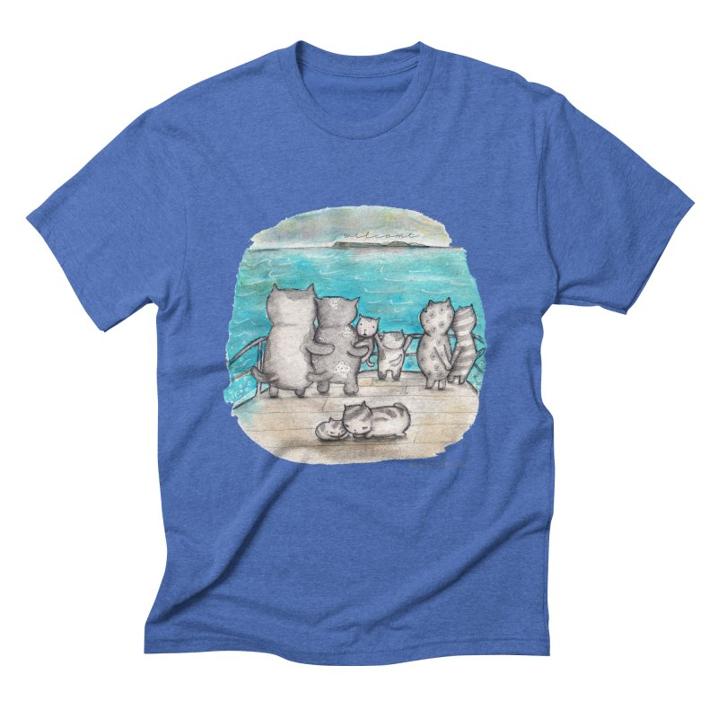 Welcome Refugees Men's Triblend T-Shirt by caratoons's Shop