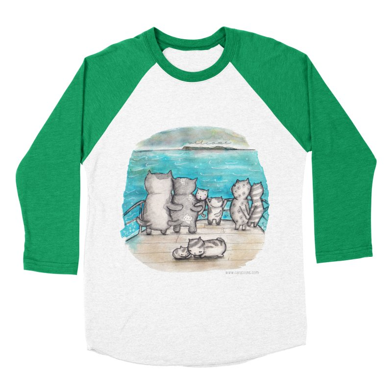 Welcome Refugees Men's Baseball Triblend Longsleeve T-Shirt by caratoons's Shop