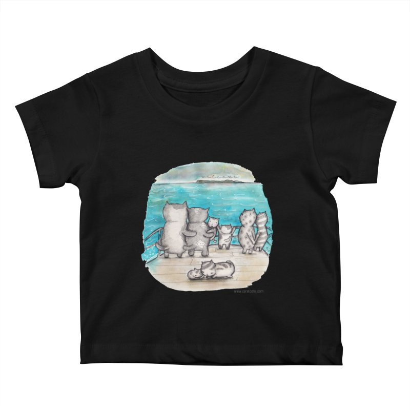 Welcome Refugees Kids Baby T-Shirt by caratoons's Shop