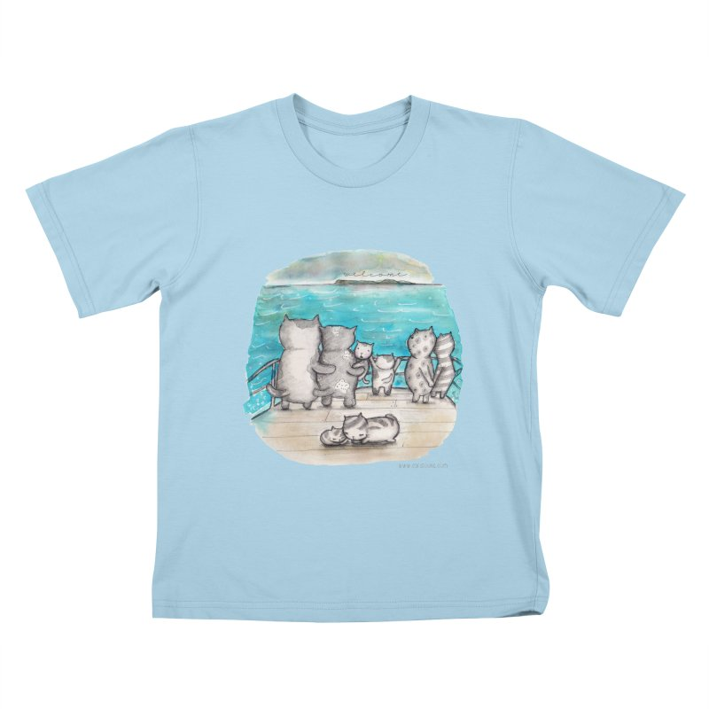 Welcome Refugees Kids T-Shirt by caratoons's Shop