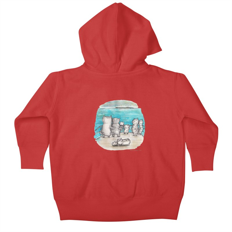 Welcome Refugees Kids Baby Zip-Up Hoody by caratoons's Shop